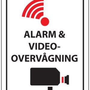 Alarm og Videoovervågningsskilte